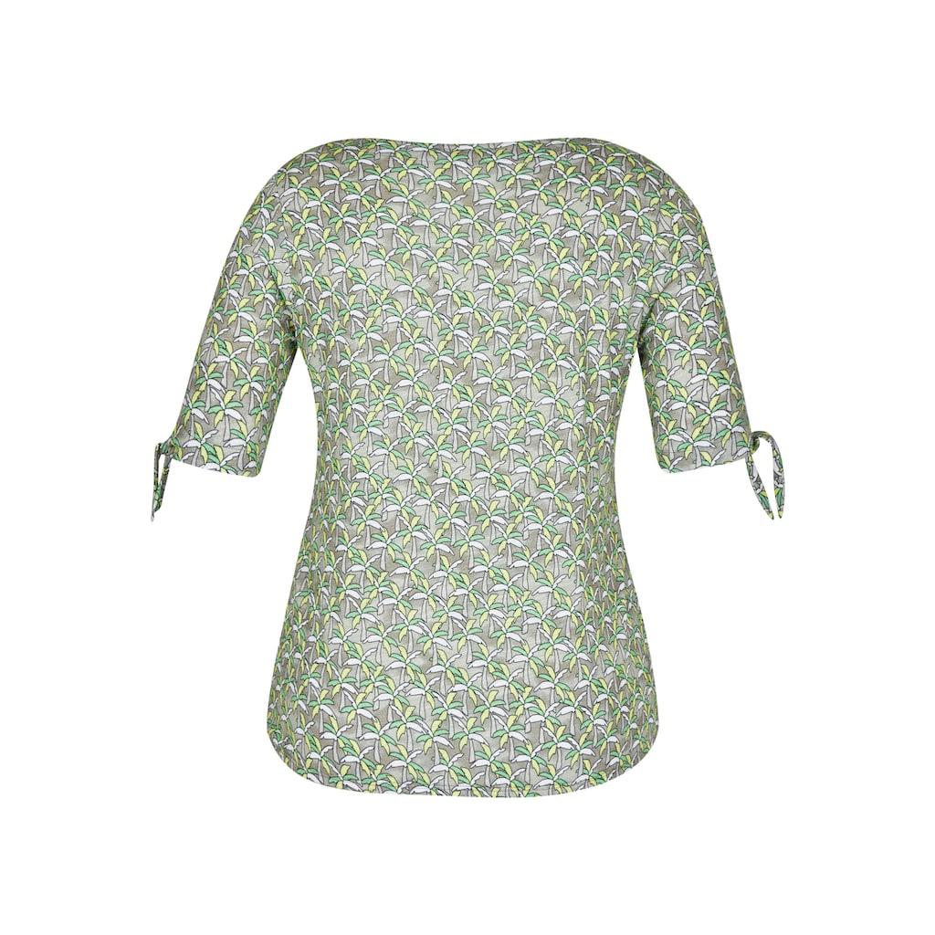 Rabe T-Shirt, mit floralem Muster und halblangen Ärmeln