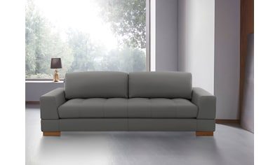 Places of Style 3-Sitzer »Kolton«, auch in Echtleder erhältlich, mit Massivholz Füßen kaufen
