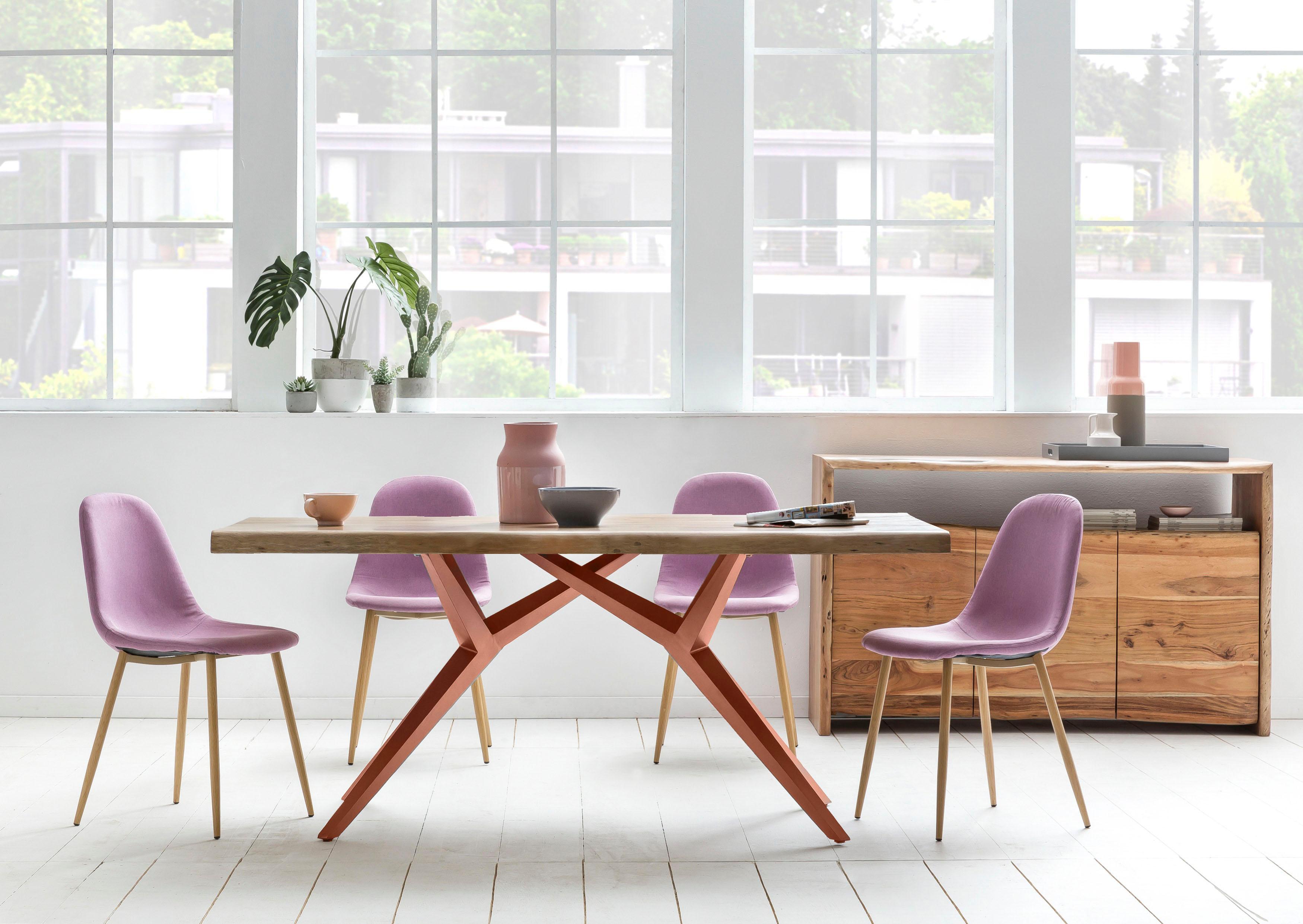 SIT Esstisch Tables, mit elegantem Metallgestell, Shabby Chic, Vintage beige Holz-Esstische Holztische Tische