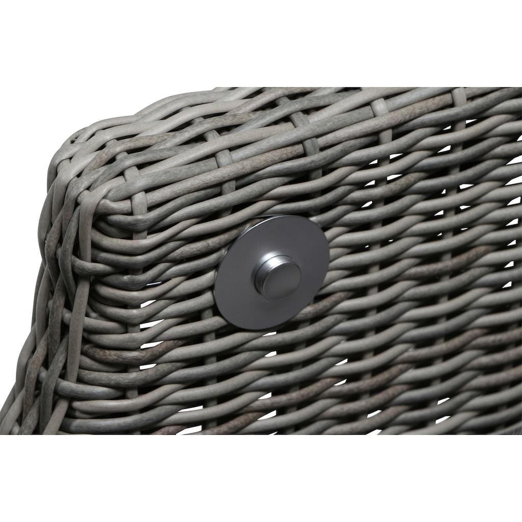 Siena Garden Loungesessel »Calado Dining Move Sessel«, Alu/Polyrattan, taupe, inkl. Auflagen