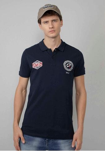 Petrol Industries Poloshirt, mit hochwertigen Markenbadges kaufen
