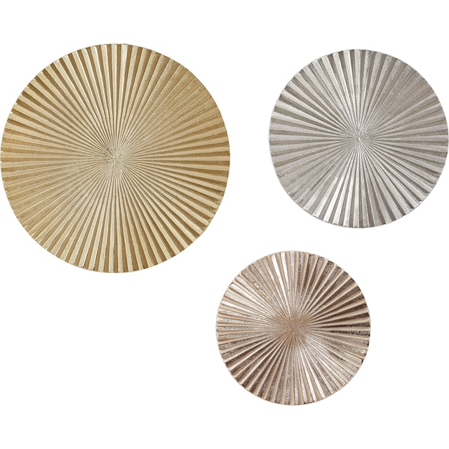 Wanddeco mit Spiegelelementen silber
