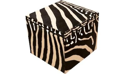 Trendline Sitzhocker »Pouf Zebra«, wohnlicher Fellhocker, eckig, handgefertigt, echtes... kaufen