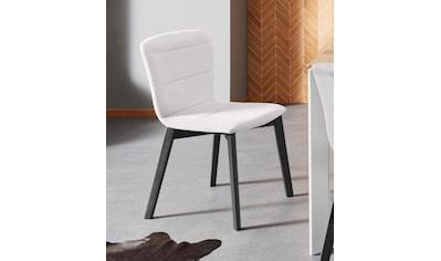 Places of Style Stuhl »Flo«, mit schönem Webstoff Bezug und massiven... kaufen