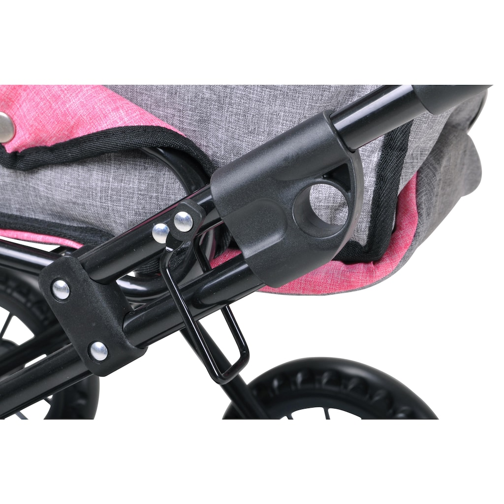 Knorrtoys® Puppenwagen »Ruby - jeans grey«