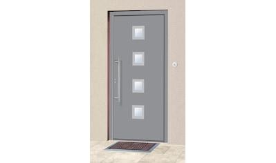 KM Zaun Haustür »A05«, BxH: 98x198 cm, grau, in 2 Varianten kaufen