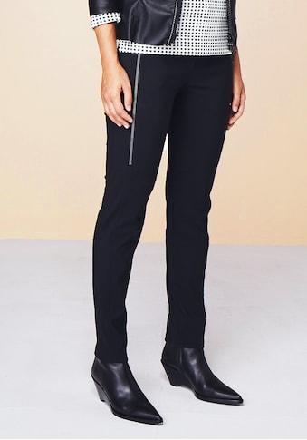 bianca Stretch-Hose »SIENA«, mit coolen, langen Zippern und Biker Steppung kaufen