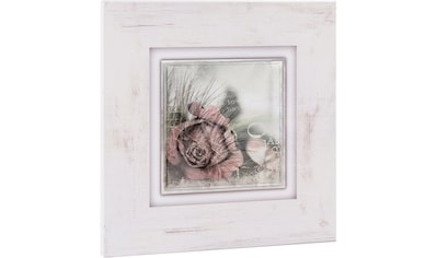 Home affaire Holzbild »Rosenblüte mit Schrift«, 40/40 cm kaufen