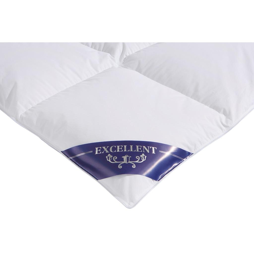 Excellent Daunenbettdecke »VENEDIG«, warm, Füllung 90% Daunen, 10% Federn, Bezug 100% Baumwolle, (1 St.), Anschmiegsam und kuschelig