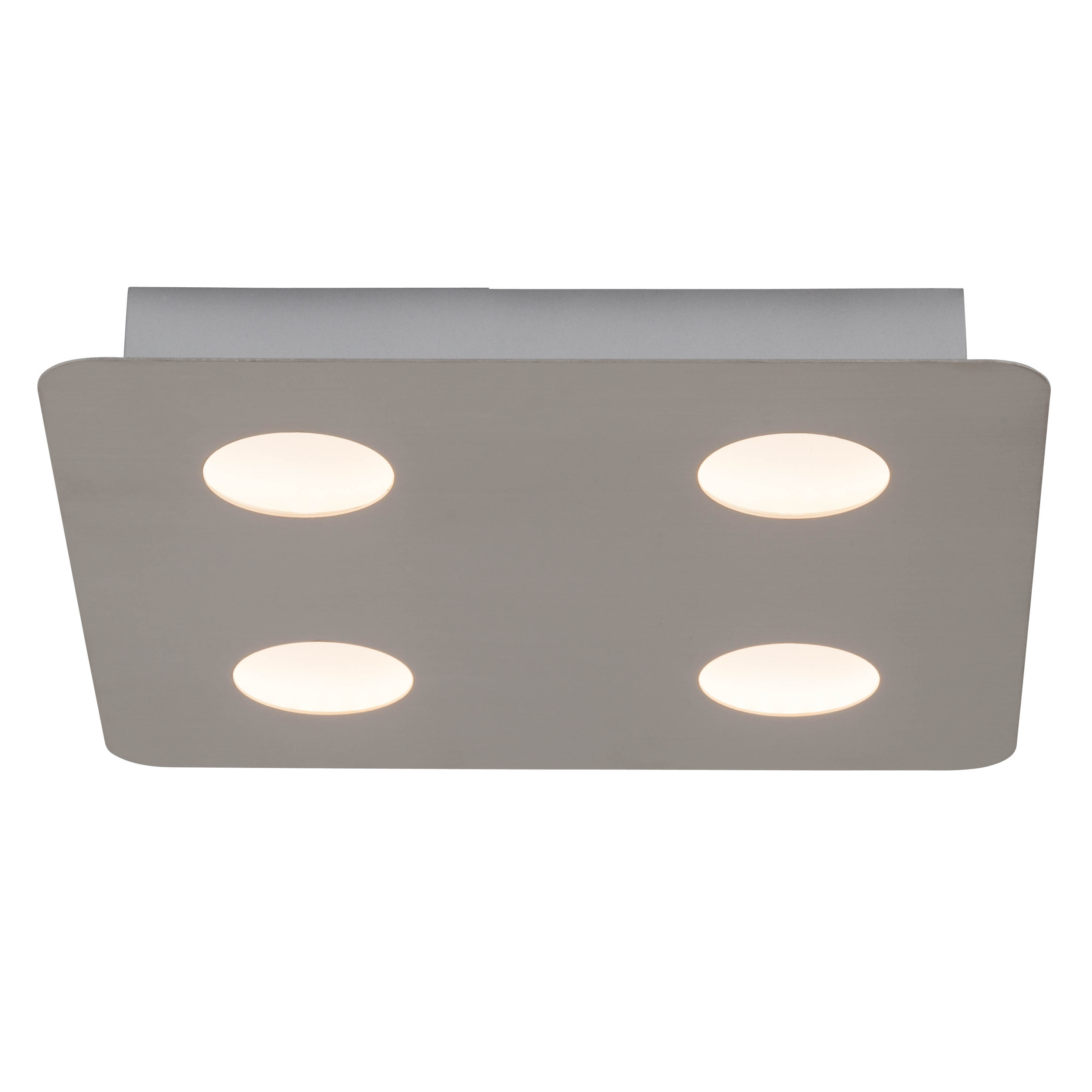 AEG Formit LED Wand- und Deckenleuchte 4flg nickel