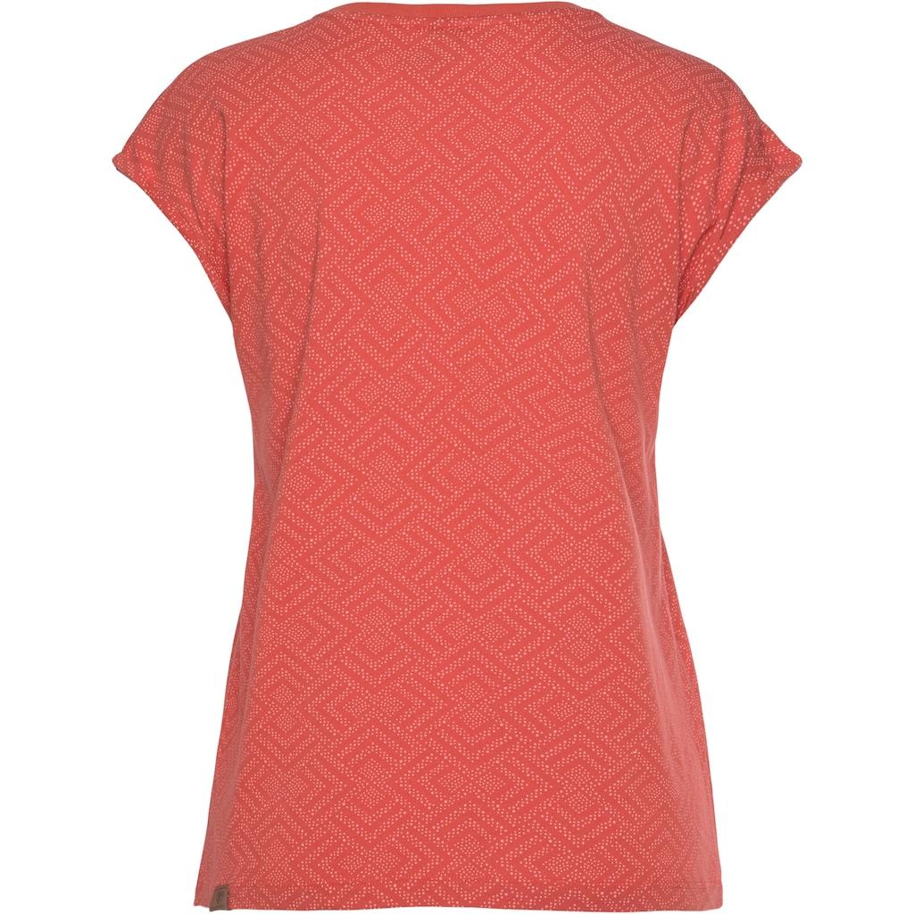 Ragwear Plus Print-Shirt »DIONE PRINT PLUS«, mit effektvollem Allover-Print