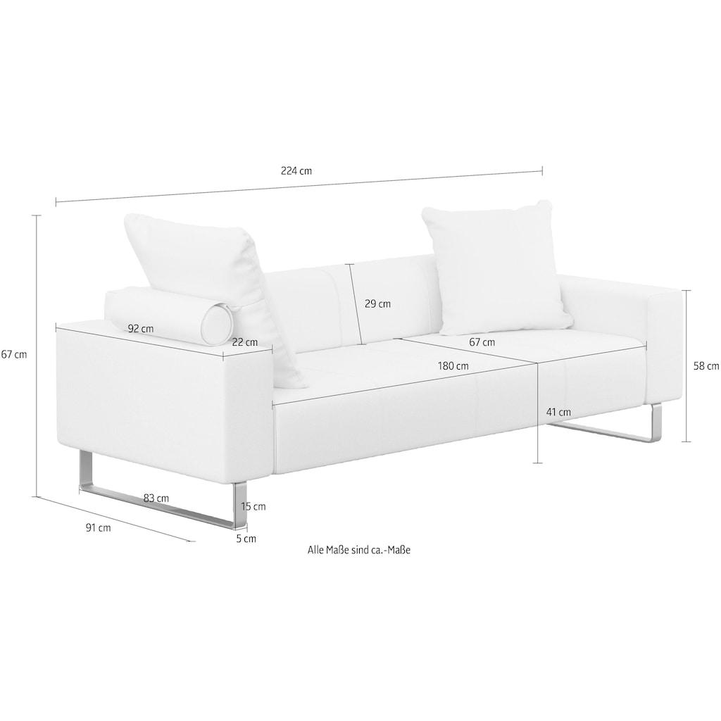 machalke® 2,5-Sitzer »groove«, mit GRATIS Ledertasche
