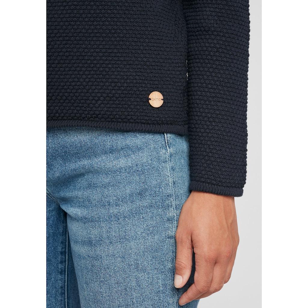 OXMO Strickpullover »Helen«, Pullover in Musterstrick Optik