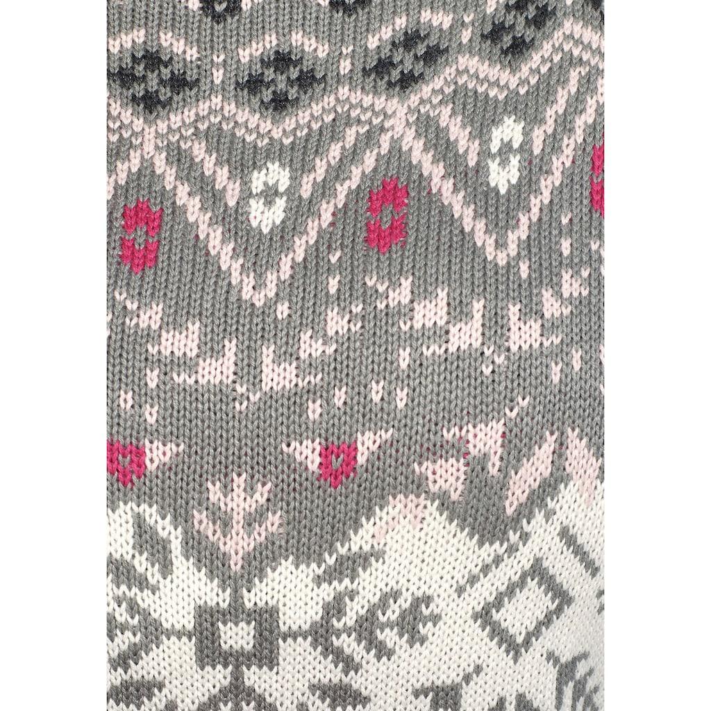 KangaROOS Strickkleid, im schönen NorwegerMuster