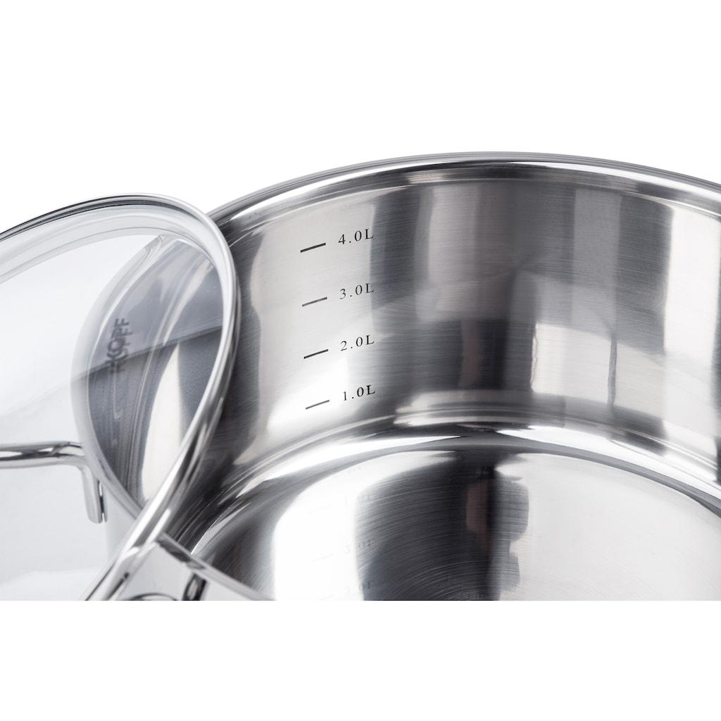 Kopf Topf-Set »Merkur«, Edelstahl, (Set, 6 tlg.), aus Edelstahl, Induktion
