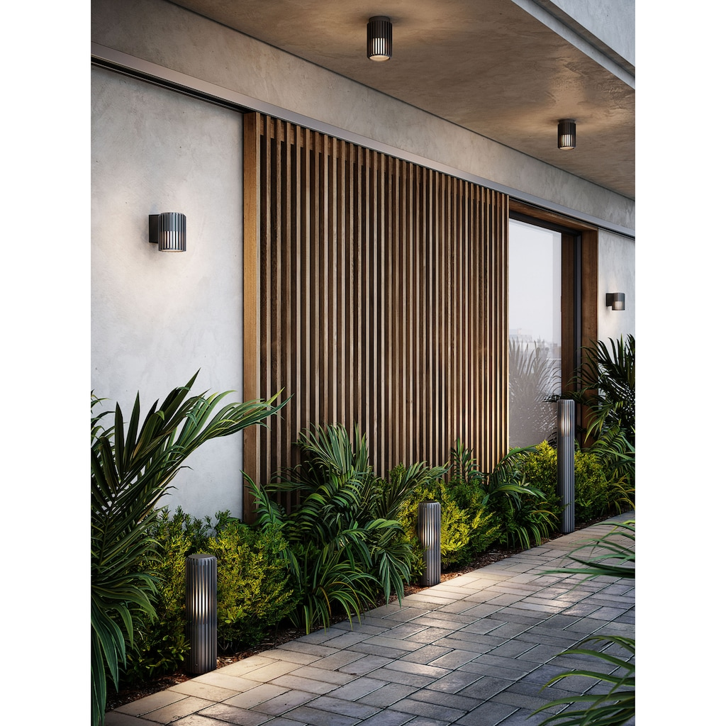 Nordlux Außen-Deckenleuchte »MATR«, E27, langlebiges eloxiertes Aluminium