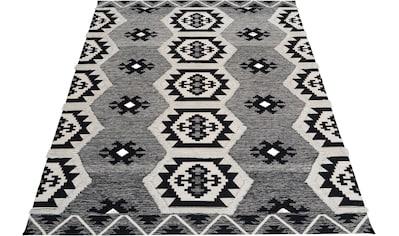 Bruno Banani Teppich »Eliana«, rechteckig, 10 mm Höhe, mit Hoch-Tief-Effekten, Wohnzimmer kaufen