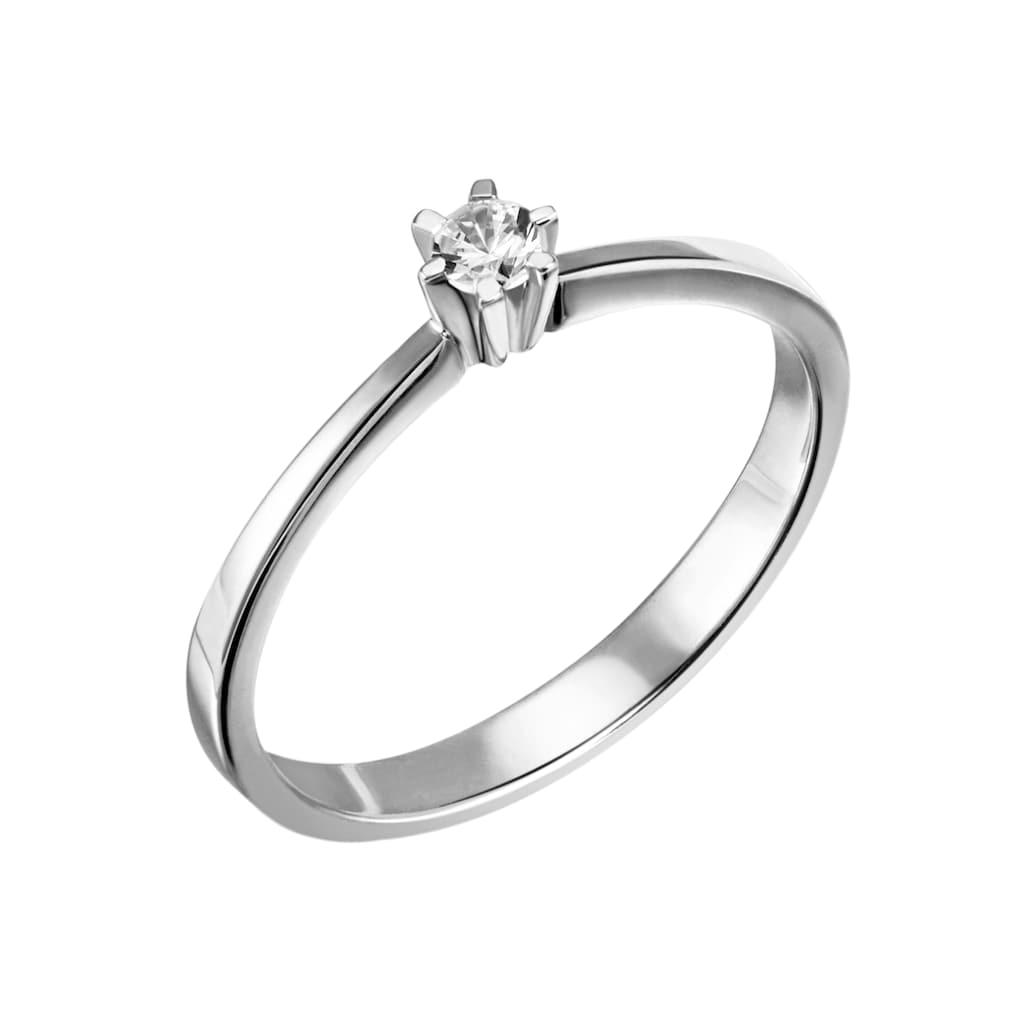 Firetti Diamantring »Solitär, ca. 1,79 mm breit, zeitlos und edel«, mit Brillant