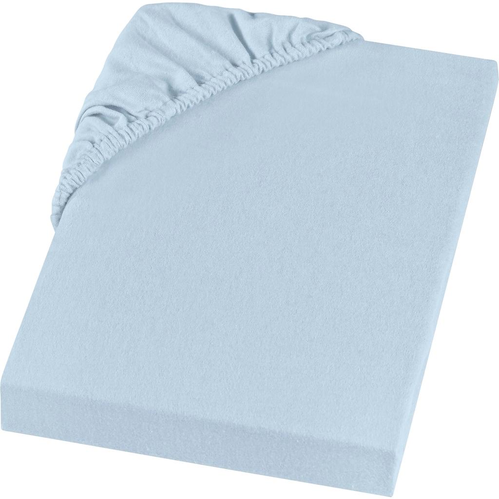 SETEX Spannbettlaken »GOTS Feinbiber Spannbettlaken«, aus GOTS zertifizierter Bio-Baumwolle