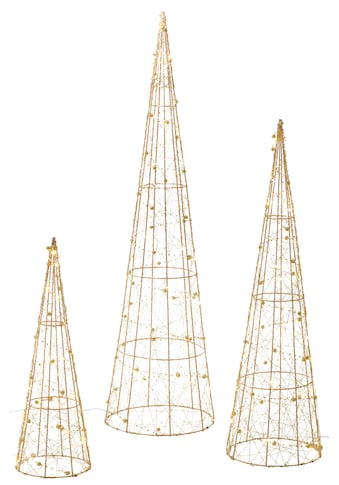 LED Baum »Pyramide«, 3 St., Warmweiß, mit 90 warmweißen LEDs kaufen