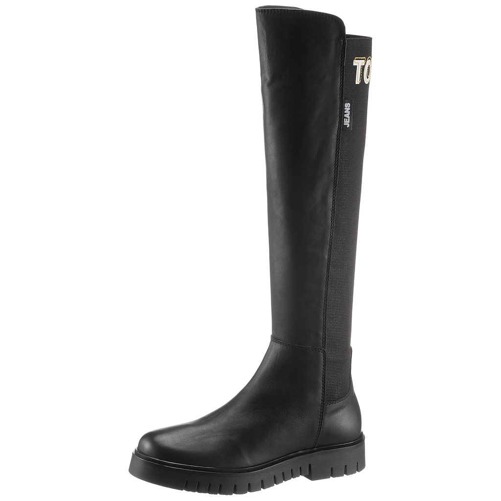 TOMMY JEANS Stiefel »DOUBLE DETAIL LONG BOOT«, mit Stretchschaft