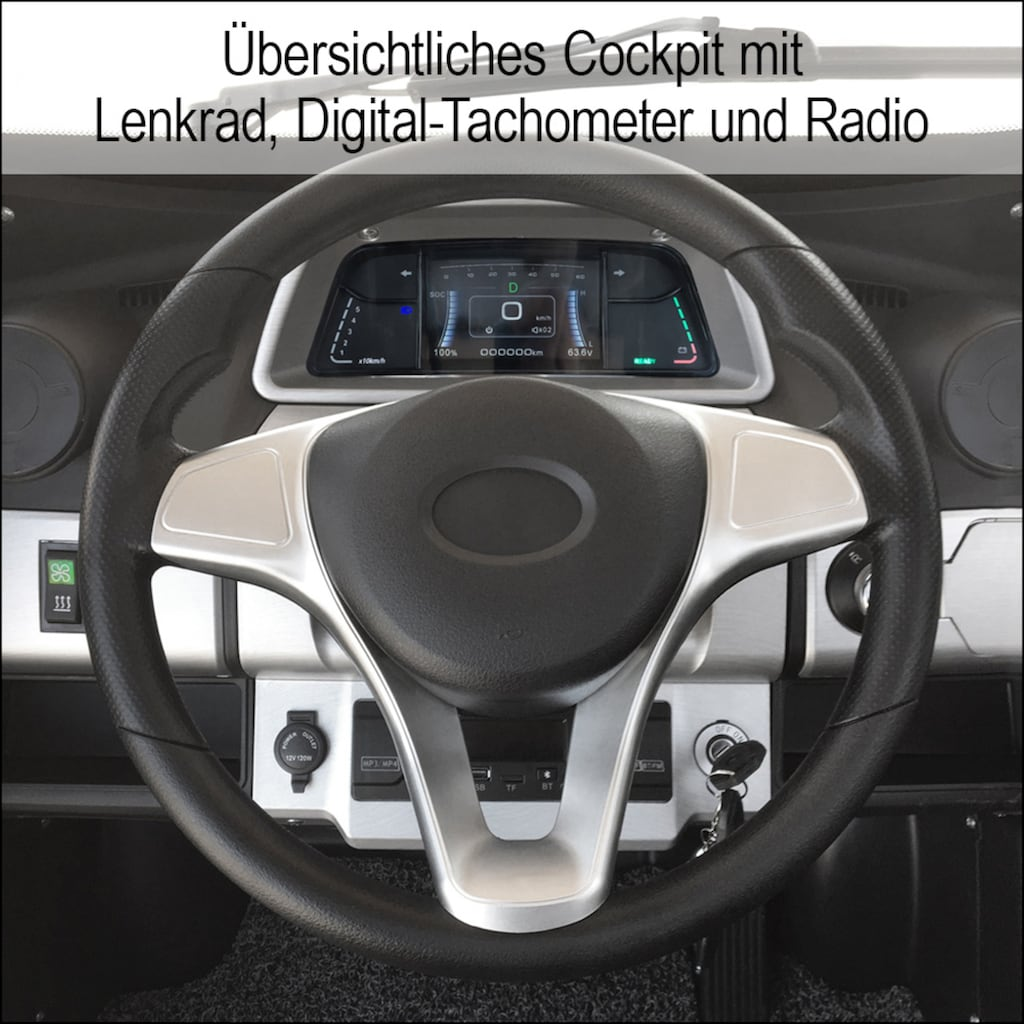 Didi THURAU Edition Elektromobil »4-Rad eLazzy Premium 45 km/h - mit Vor-Ort-Einweisung«