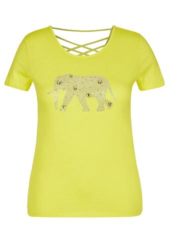 VIA APPIA Modisches T - Shirt mit Glitzersteinchen kaufen