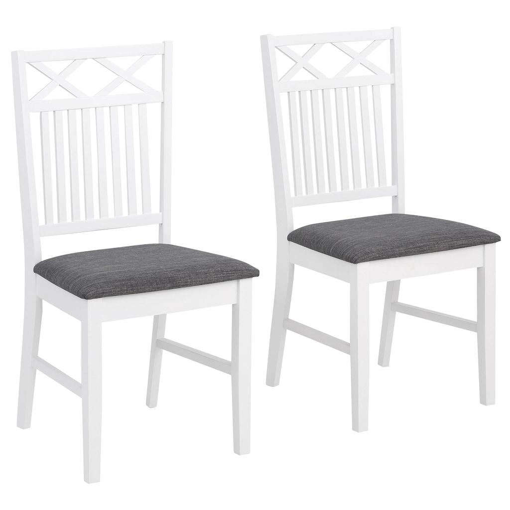 Home affaire Stuhl »Fullerton«, mit schönen Fräsungen an der Rückenlehne, Sitzhöhe 47 cm