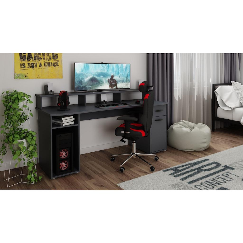Homexperts Gamingtisch »Fortune«, mit Platz für mehrere Bildschirme