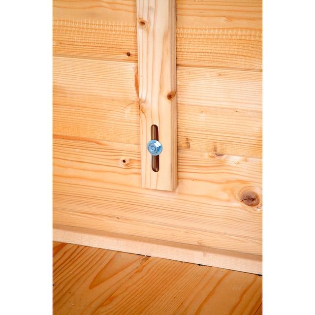 WOLFF FINNHAUS Set: Gartenhaus »Anna 40-A/2«, BxT: 503x349 cm, inkl. Fußboden, grüne Schindeln