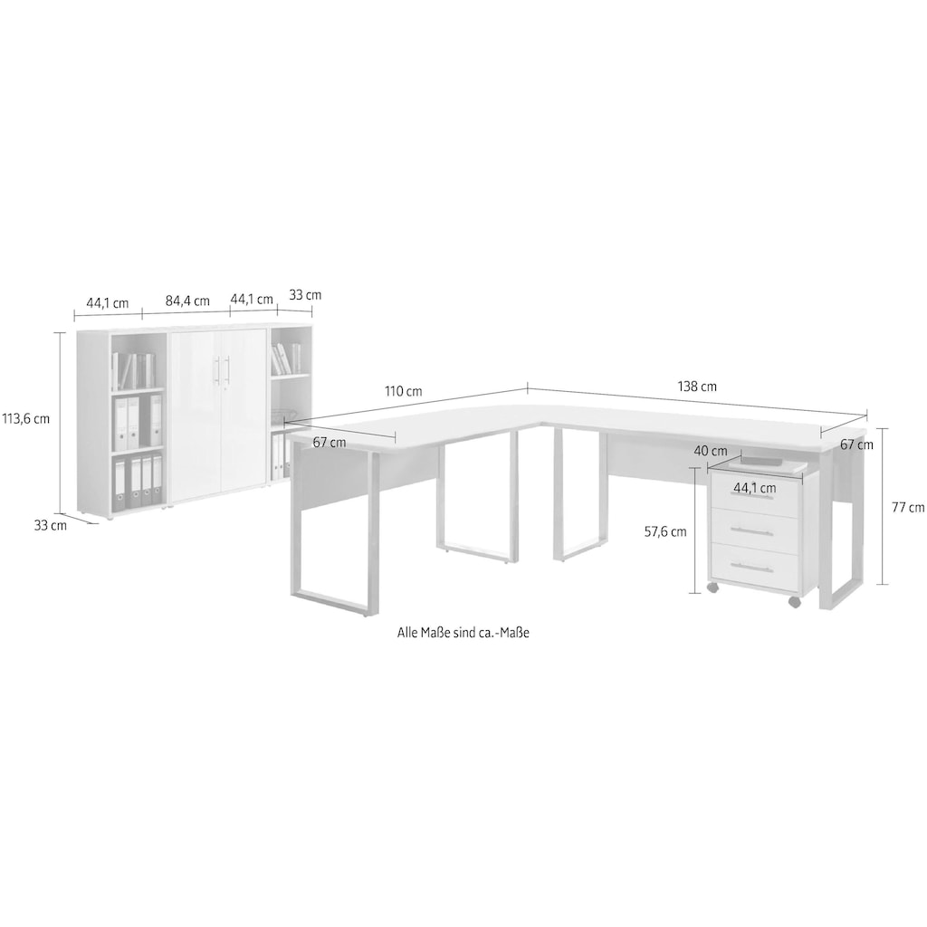 BMG Büro-Set »Tabor Office 2«, (Set, 6 tlg.)