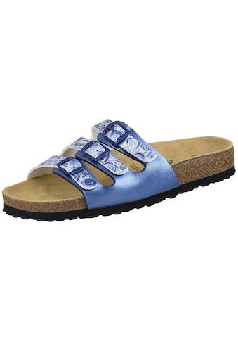 Sandale »560065«, Bioline Pantolette Flower blau kaufen
