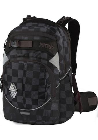 NITRO Schulrucksack »Superhero, Checker«, Reflektoren kaufen