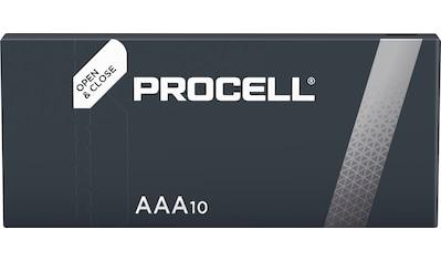 Duracell »Batterie Alkaline, Micro, AAA, LR03, 1.5V, Procell, Box (10 - Pack)« Batterie (10 Stück) kaufen