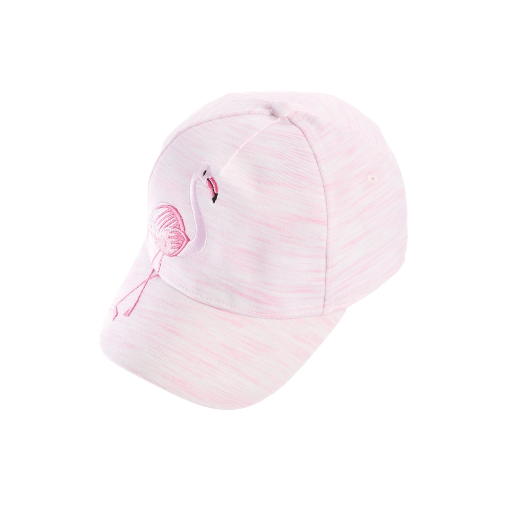 Chaplino Baseball Cap, mit verspieltem Flamingo