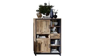 Innostyle Hochkommode »Prato«, Breite 100 cm, 2 Holztüren, 1 Schubkasten, 5 offene Fächer kaufen