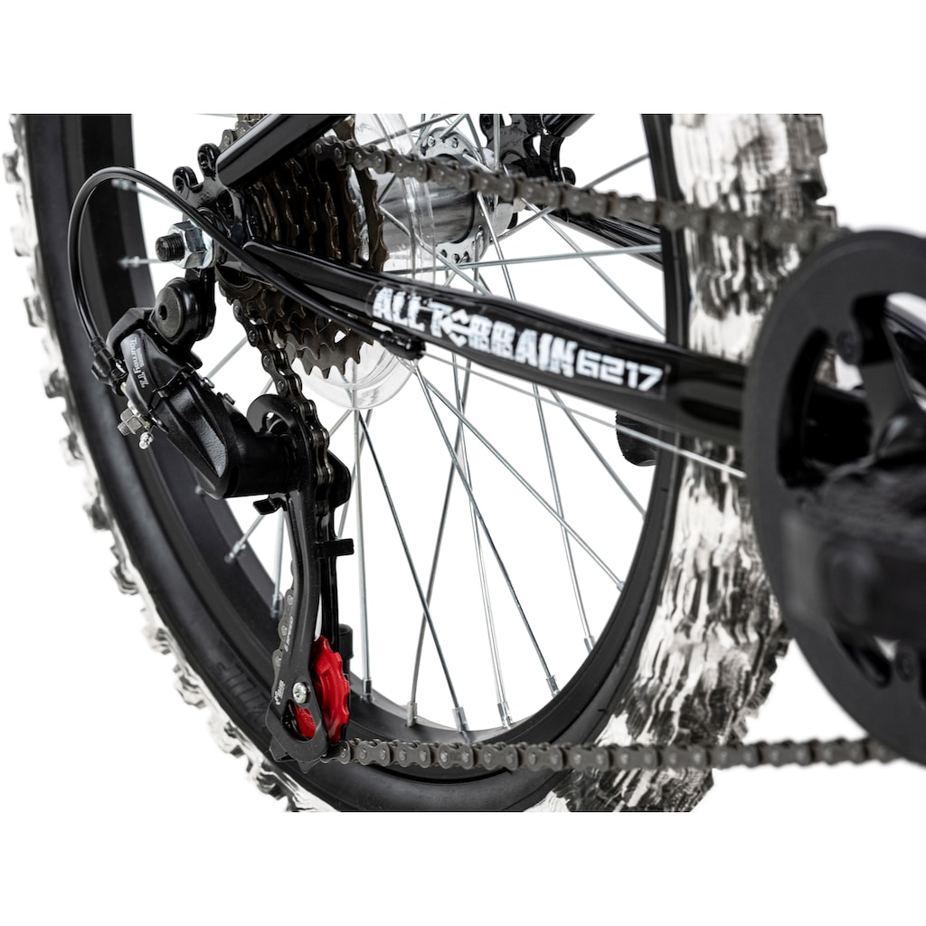 KS Cycling Kinderfahrrad »Crusher«, 6 Gang, Shimano, Tourney Schaltwerk, Kettenschaltung