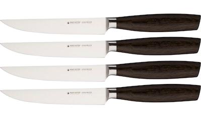 Felix Solingen Steakmesser, (Set, 4 tlg.), Chrom-Molybdän-Vanadium-Stahl, Griff aus geräucherter Eiche kaufen