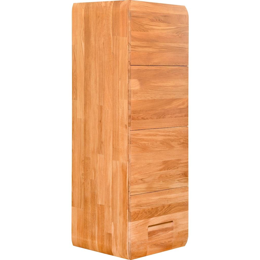 andas Hängeschrank »Freyr«, aus massivem Eichenholz und Push-To-Open-Funktion, inklusive Hintergrundbeleuchtung, Breite 45 cm