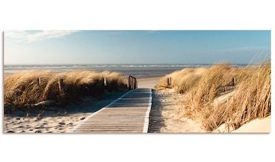 Artland Schlüsselbrett »Nordseestrand auf Langeoog - Steg«, aus Holz mit 4... kaufen