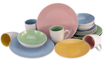 CreaTable Kombiservice »Nice Cream«, (Set, 16 tlg.), Pastellfarben kaufen