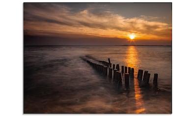 Artland Glasbild »Sonnenuntergang am Meer...«, Gewässer, (1 St.) kaufen