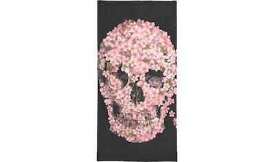 Juniqe Handtuch »A beautiful death«, (1 St.), Weiche Frottee-Veloursqualität kaufen