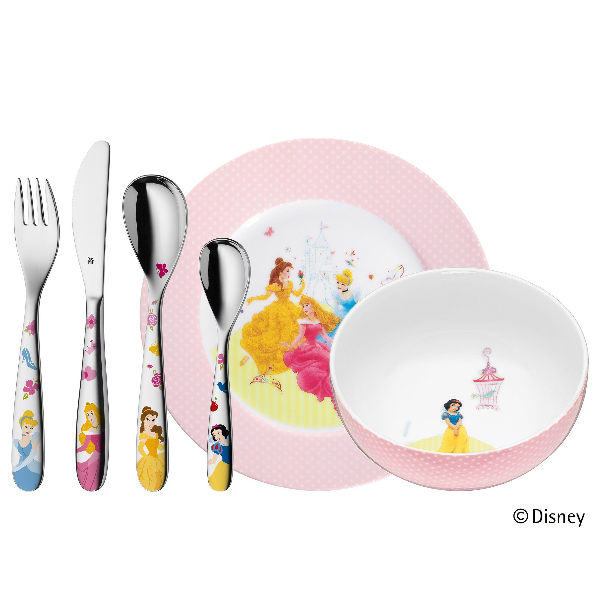 Kinderbesteck-Set 6-teilig Princess WMF bunt