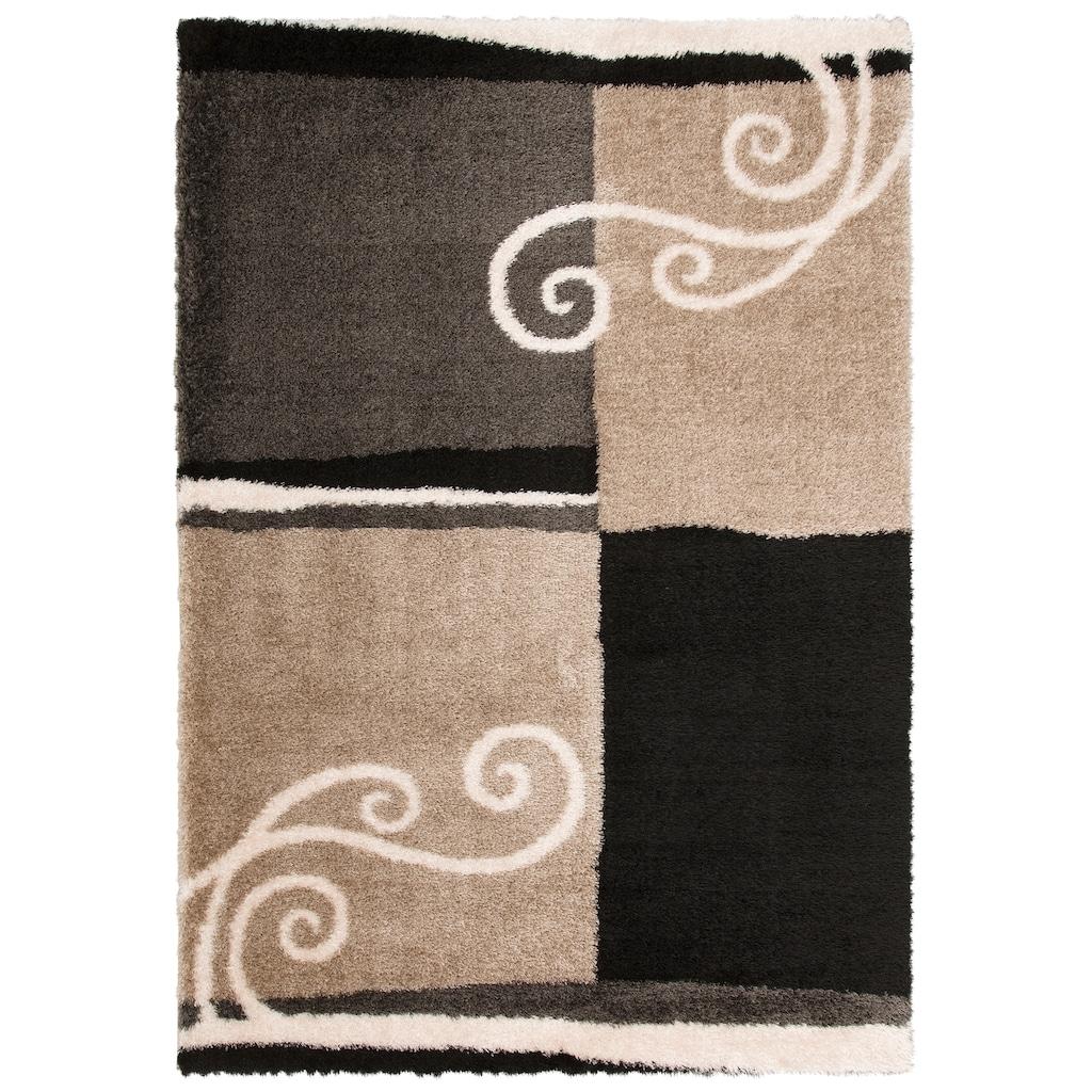 DELAVITA Hochflor-Teppich »Tamina«, rechteckig, 43 mm Höhe, Besonder weich durch Microfaser, Wohnzimmer