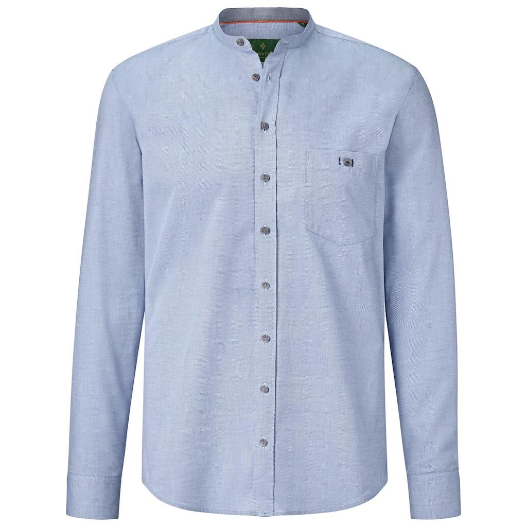 Charles Colby Langarmhemd »EARL ALEC«, Baumwollhemd mit Stehkragen