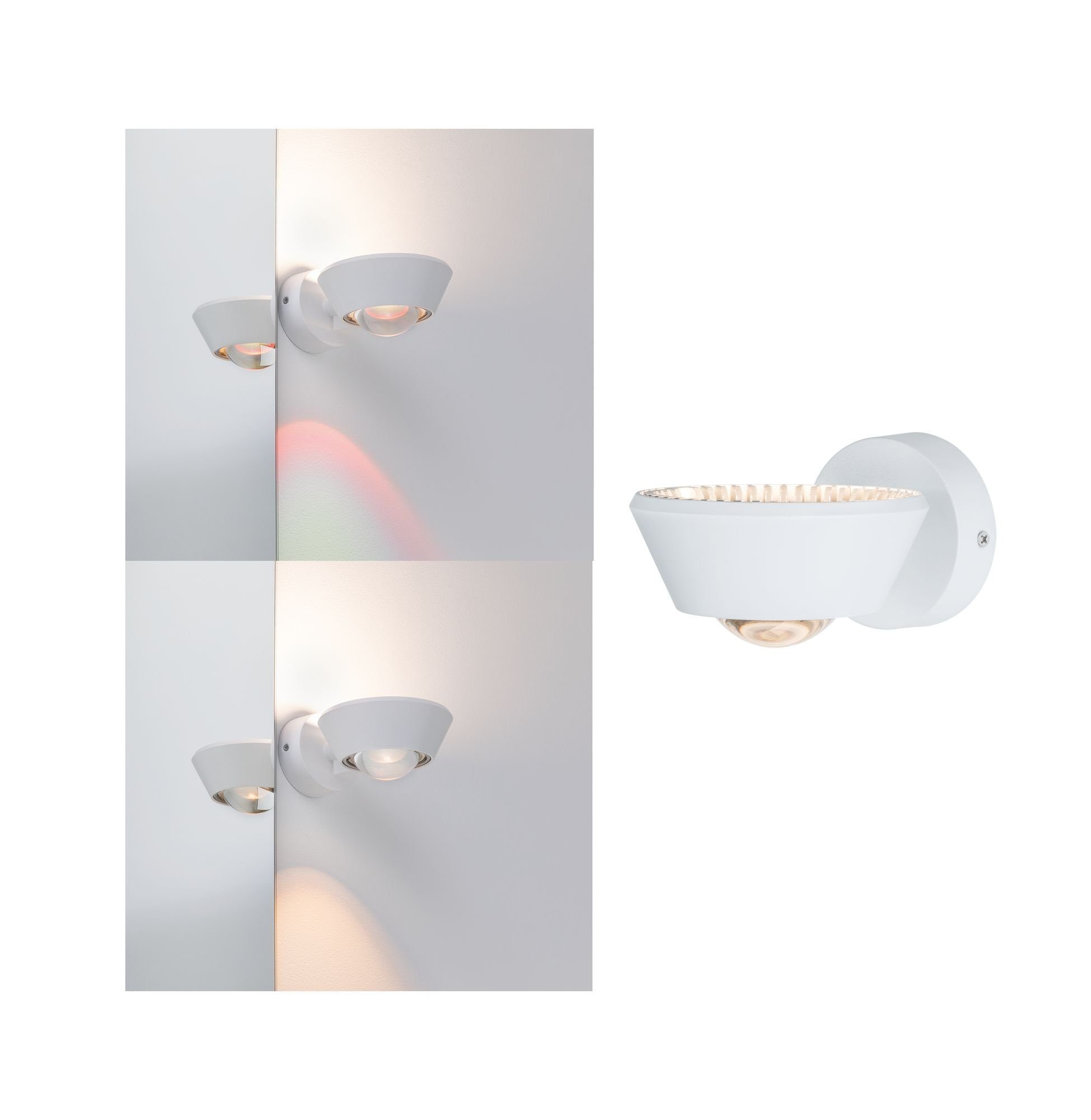 Paulmann LED Wandleuchte Sabik 13W Weiß matt dimmbar, 1 St., Warmweiß
