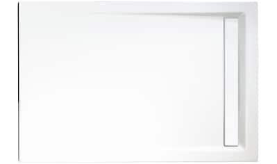 SCHULTE Set: Duschwanne »extra - flach«, rechteckig mit Rinne, BxT: 80 x 120 cm kaufen