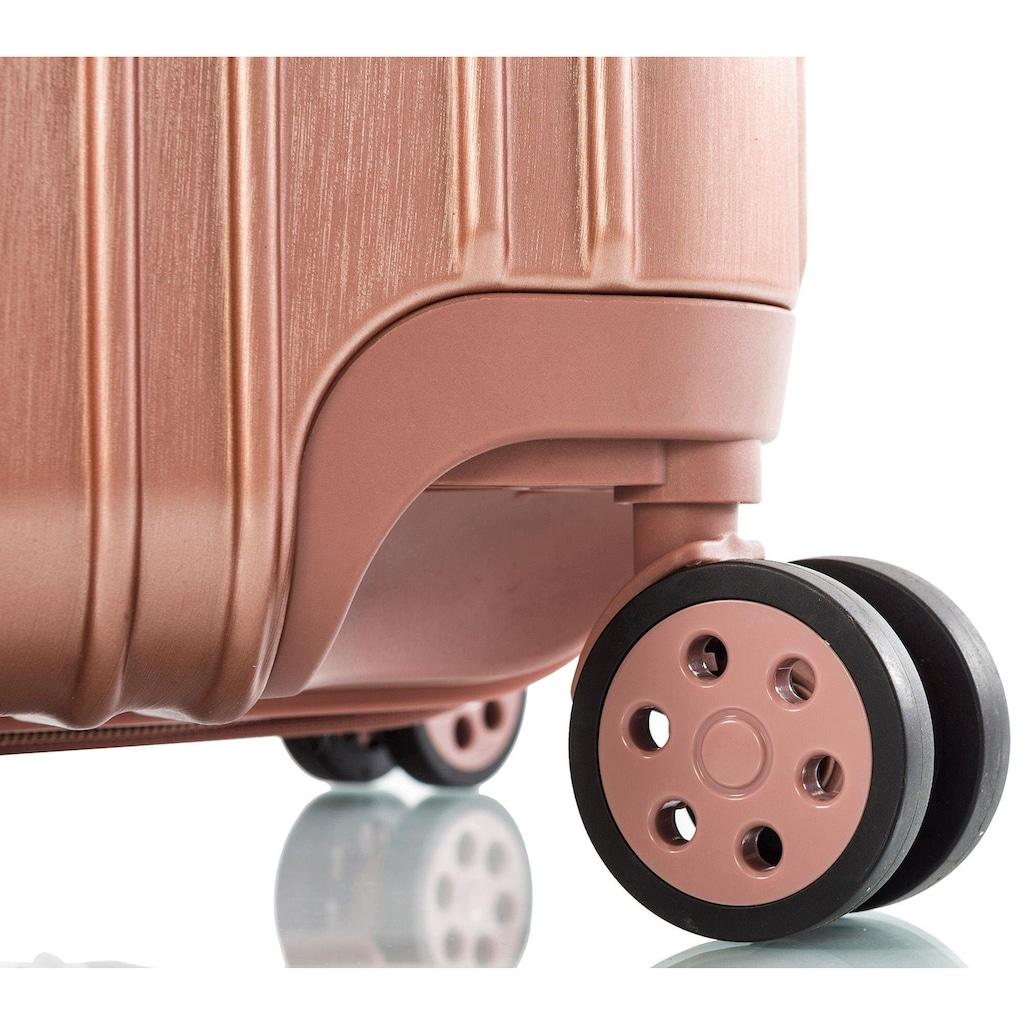 Heys Hartschalen-Trolley »Xtrak, 76 cm, Roségold«, 4 Rollen