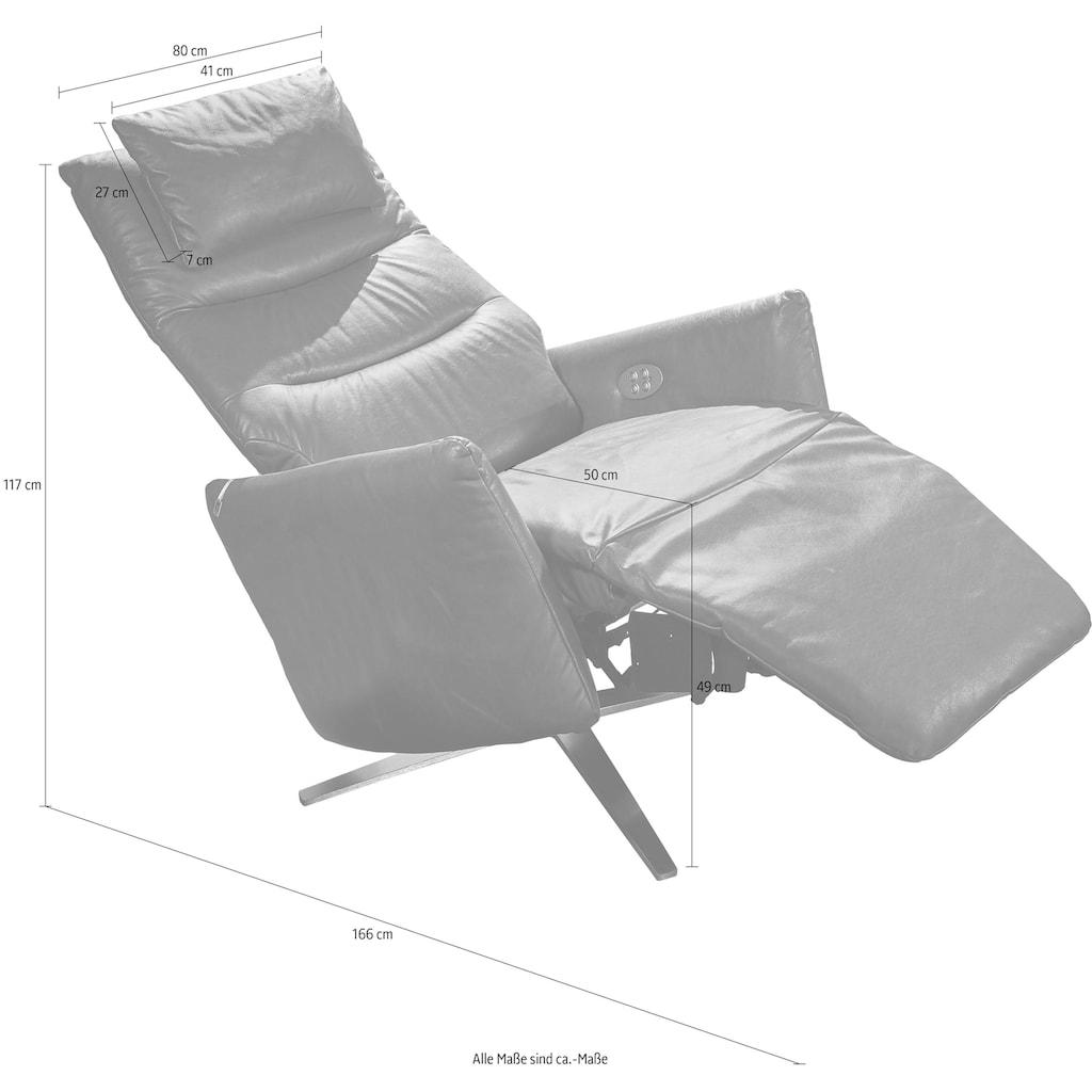 W.SCHILLIG Relaxsessel »salsaa«, mit 4-Sternfuß, wahlweise mit Doppelmotor, inklusive Nackenkissen